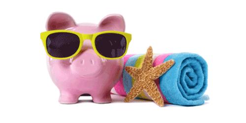 Bilder von Produkten die man mit Sommerartikel in Verbindung bringt wie Sonnenbrille, Seestern und Handtuch